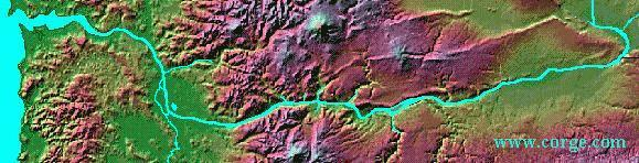 Map of Columbia River